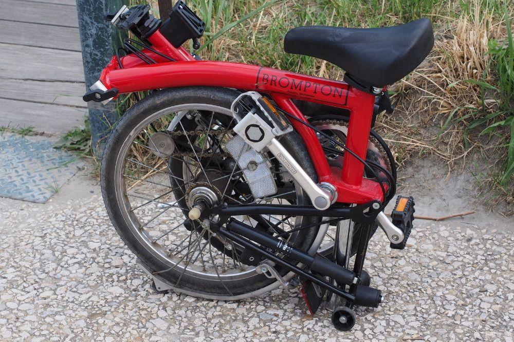 Een opklapbare fiets voor pendelaars